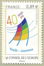 Image du timbre 40 ans Jeunesse -  40 years Youth