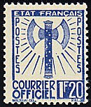 Image du timbre Courrier officiel 1 F 20