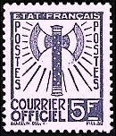 Image du timbre Courrier officiel 5 F