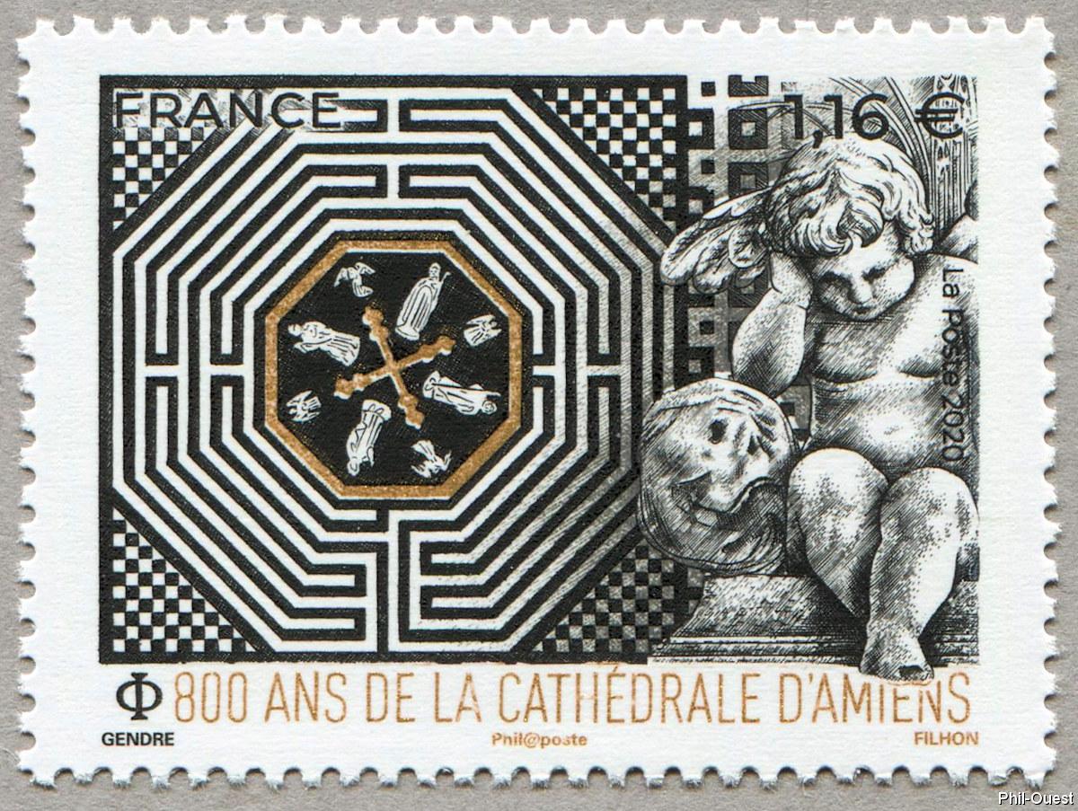 法国7月28日发行亚眠大教堂800年邮票