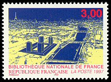 Image du timbre Bibliotheque Nationale de France