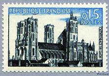 J'ai des timbres datant vers 1960 Maroc et France Laon_1960