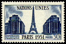 Image du timbre Nations unies -  Paris  1951, 30 F bleu