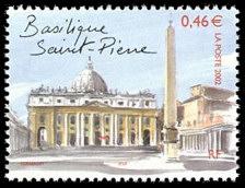 La basilique Saint Pierre Capitales européennes - Rome - Timbre de ...