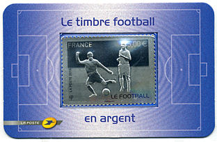 Image du timbre Timbre argent Football