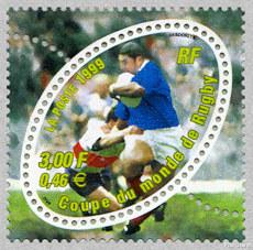 Coupe du monde de rugby 1999 timbre de 1999 - Rugby coupe du monde 1999 ...