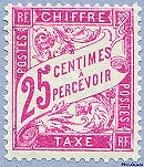 Image du timbre Chiffre-taxe type banderole 25c rose