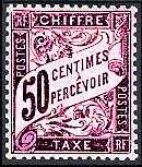 Image du timbre Chiffre-taxe type banderole 50c lilas
