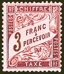 Image du timbre Chiffre-taxe type banderole 3F lilas-rose