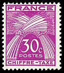 Image du timbre Chiffre-taxe  type gerbes 30 c lilas